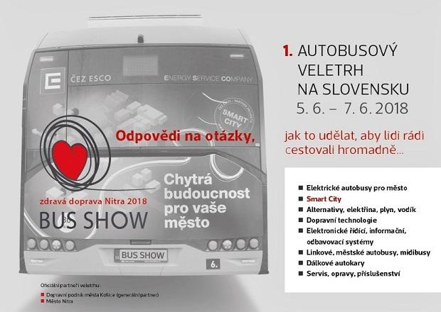 BUS SHOW 2018: prvý inovatívny autobusový dopravný veľtrh na Slovensku sa blíži