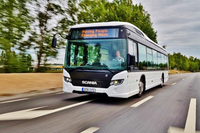 Scania Citywide LF N280 CNG na veltrhu BUS SHOW