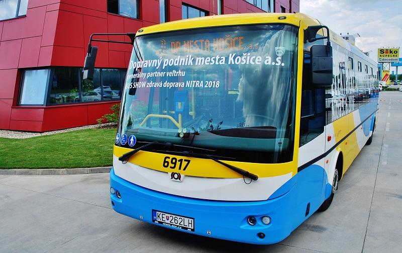 Dopravný podnik města Košice, generálny partner BUS SHOW 2018