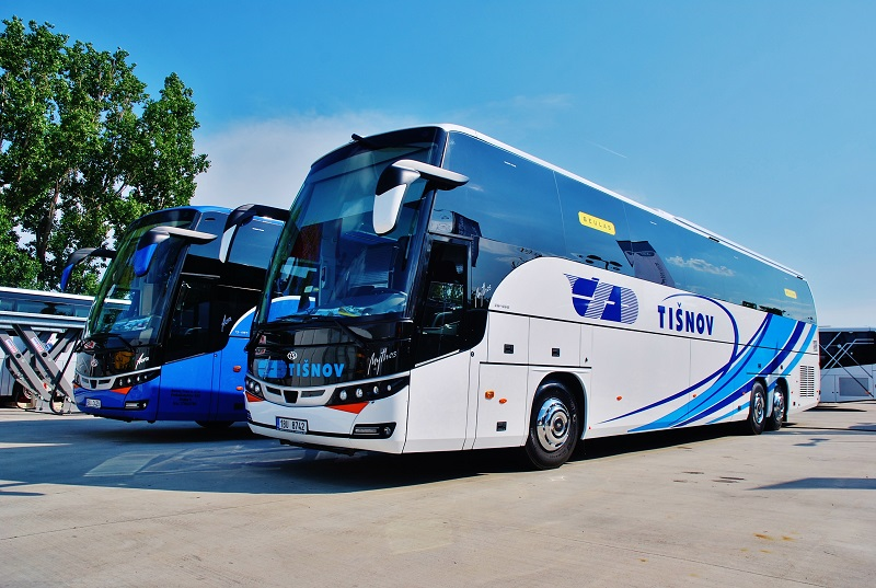 Slovenská premiéra BEULAS MYTHOS HDH na podvozku MAN, vpravo na BUS SHOW 2018 v Nitre (foto: Zdeněk Nesveda)