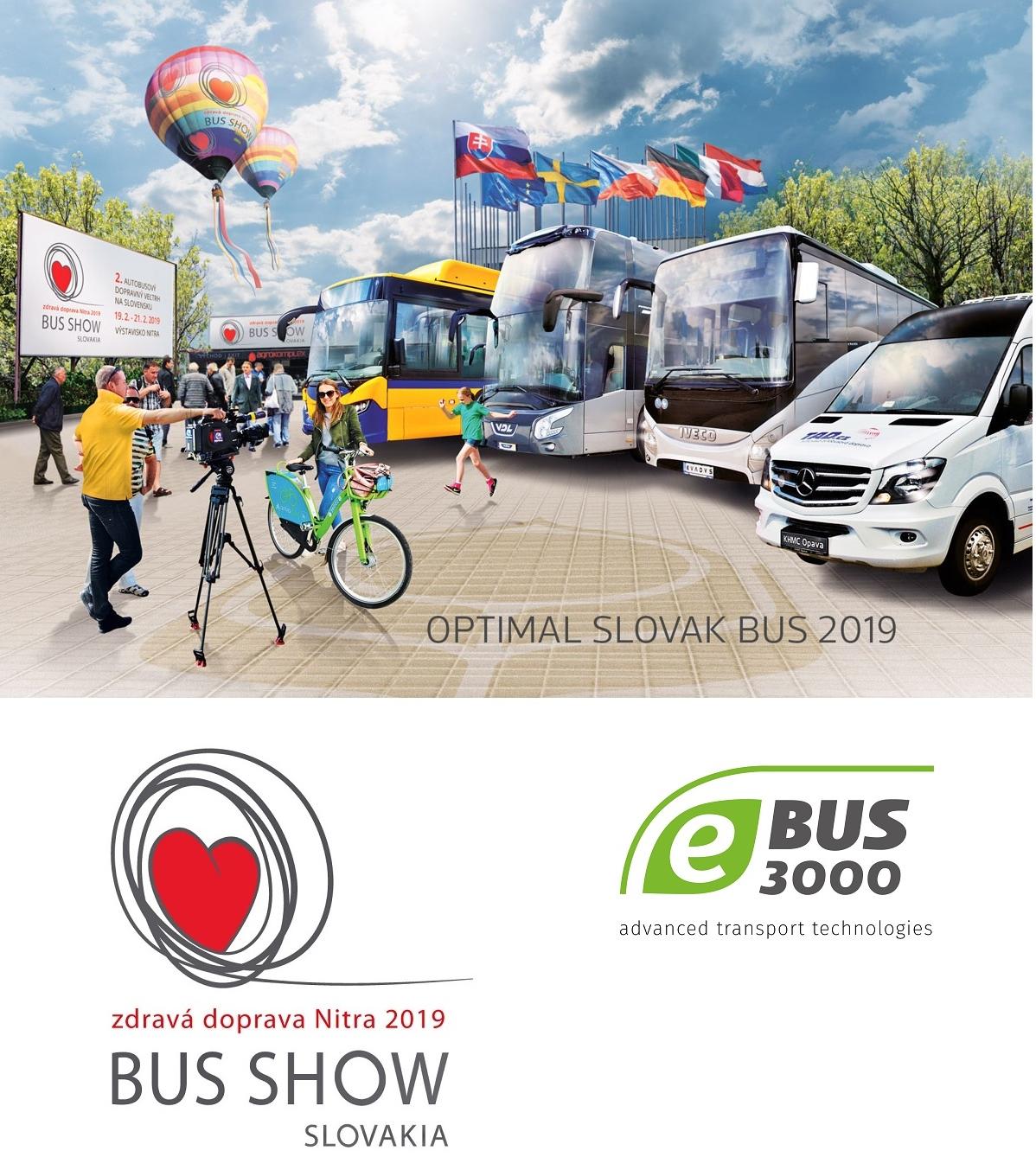 Inovativní československý dopravní veletrh BUS SHOW zdravá doprava Nitra 2019, určitě si nenechte ujít