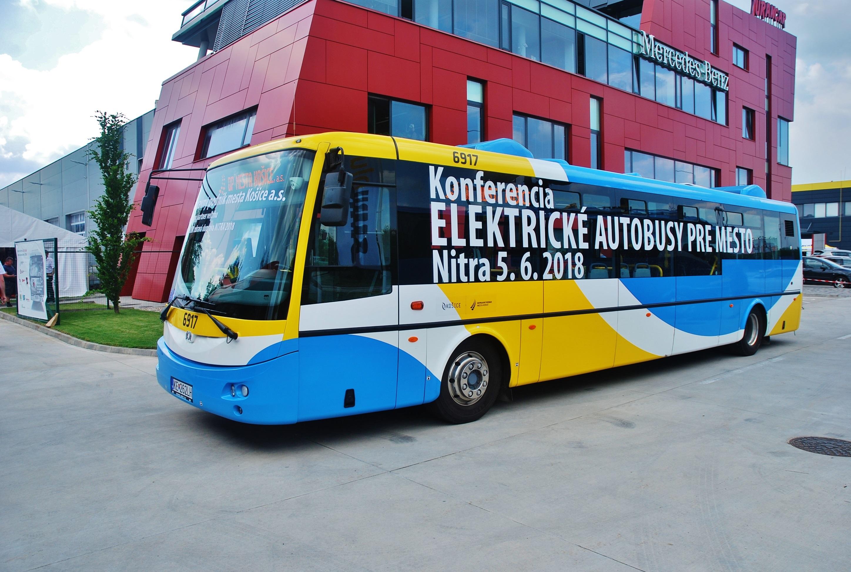 Elektrobus SOR dopravný podnik Košice na veľtrhu BUS SHOW zdravá doprava 2018 v Nitre (foto: Zdeněk Nesveda BusPress)