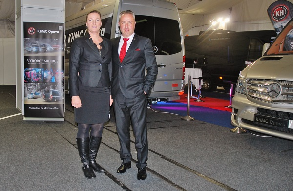 Na veletrhu CZECHBUS 2017 Kamil Hrbáč s manželkou Petrou (foto: Zdeněk Nesveda)