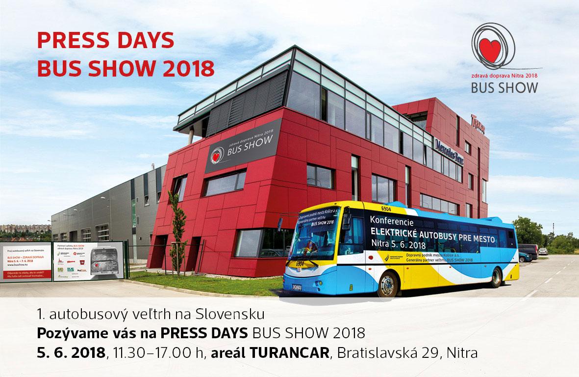 POZVÁNKA: PRESS DAYS BUS SHOW NITRA 2018