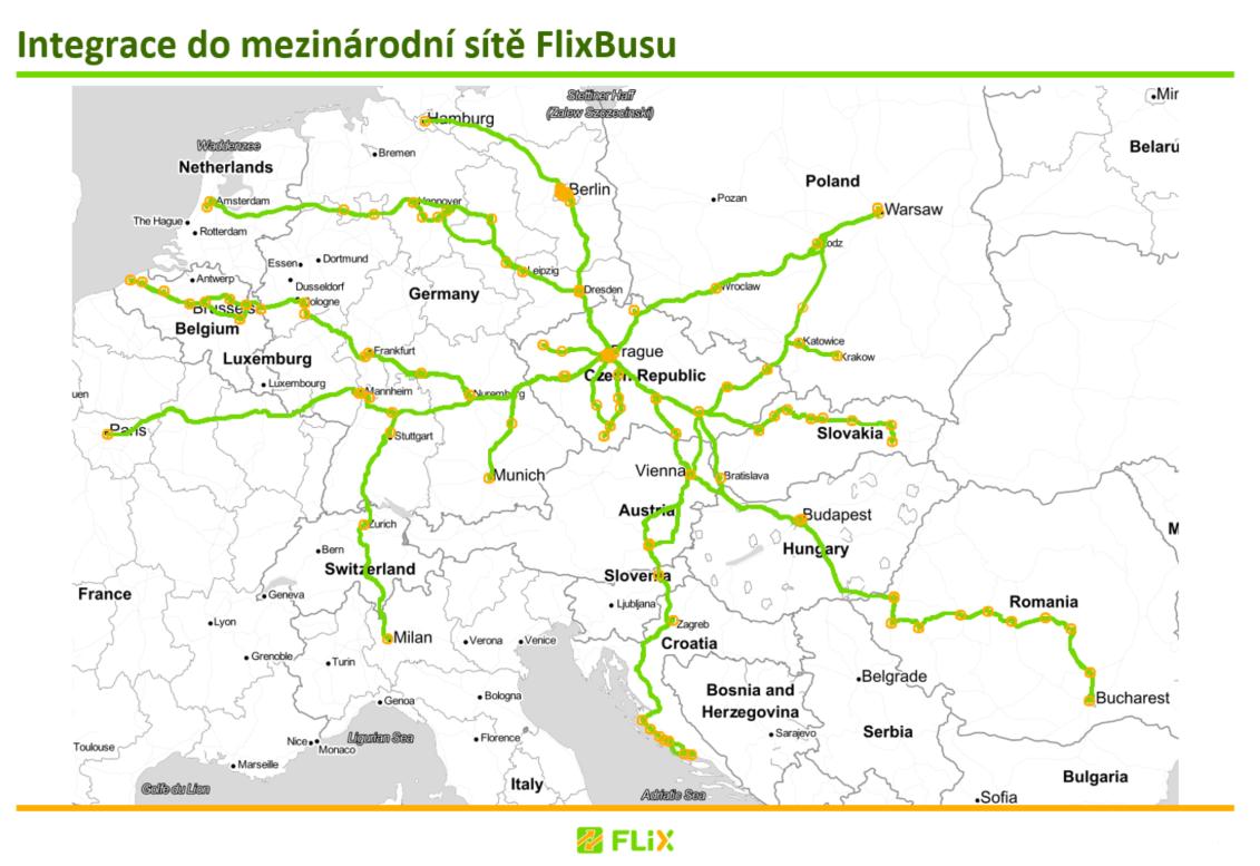 FlixBus Evropská síť