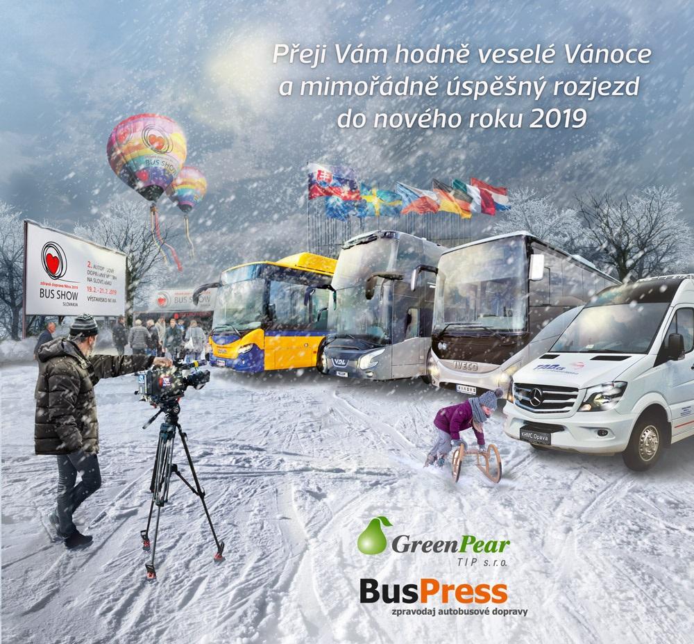 BUS PRESS - Vedelé Vánoce a šťastný nový rok 2019