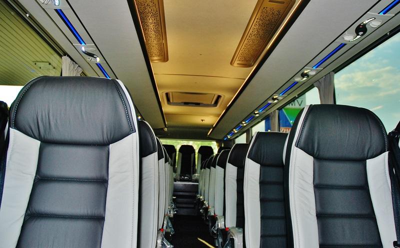 Interier VISIGO HYPER do kterého si pan Marian Feranec vybral elegantní sedadla z pravé kůže. (foto: Zdeněk Nesveda)