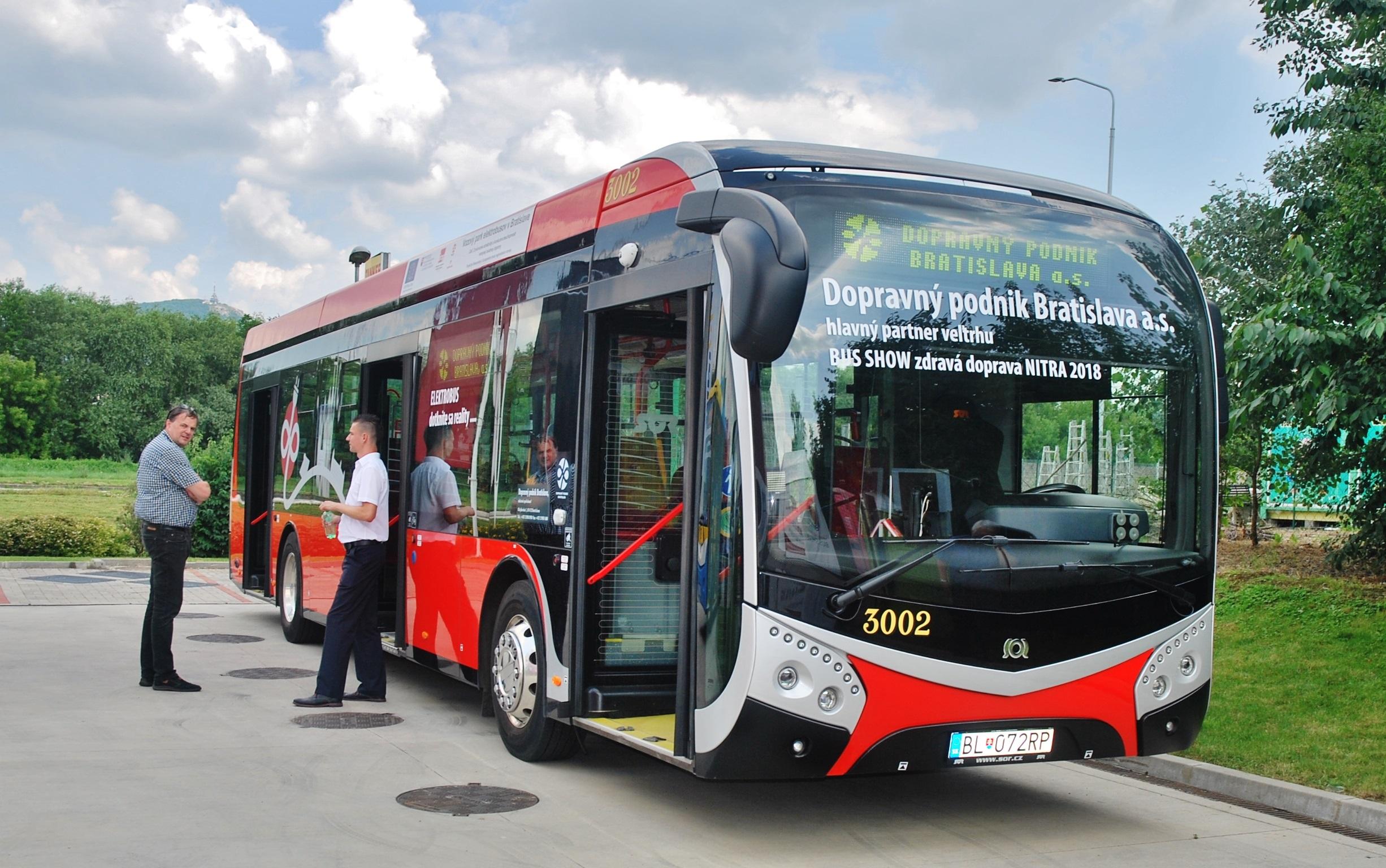 Elektrobus SOR dopravný podnik Bratislava na veľtrhu BUS SHOW zdravá doprava 2018 v Nitre (foto: Zdeněk Nesveda BusPress)