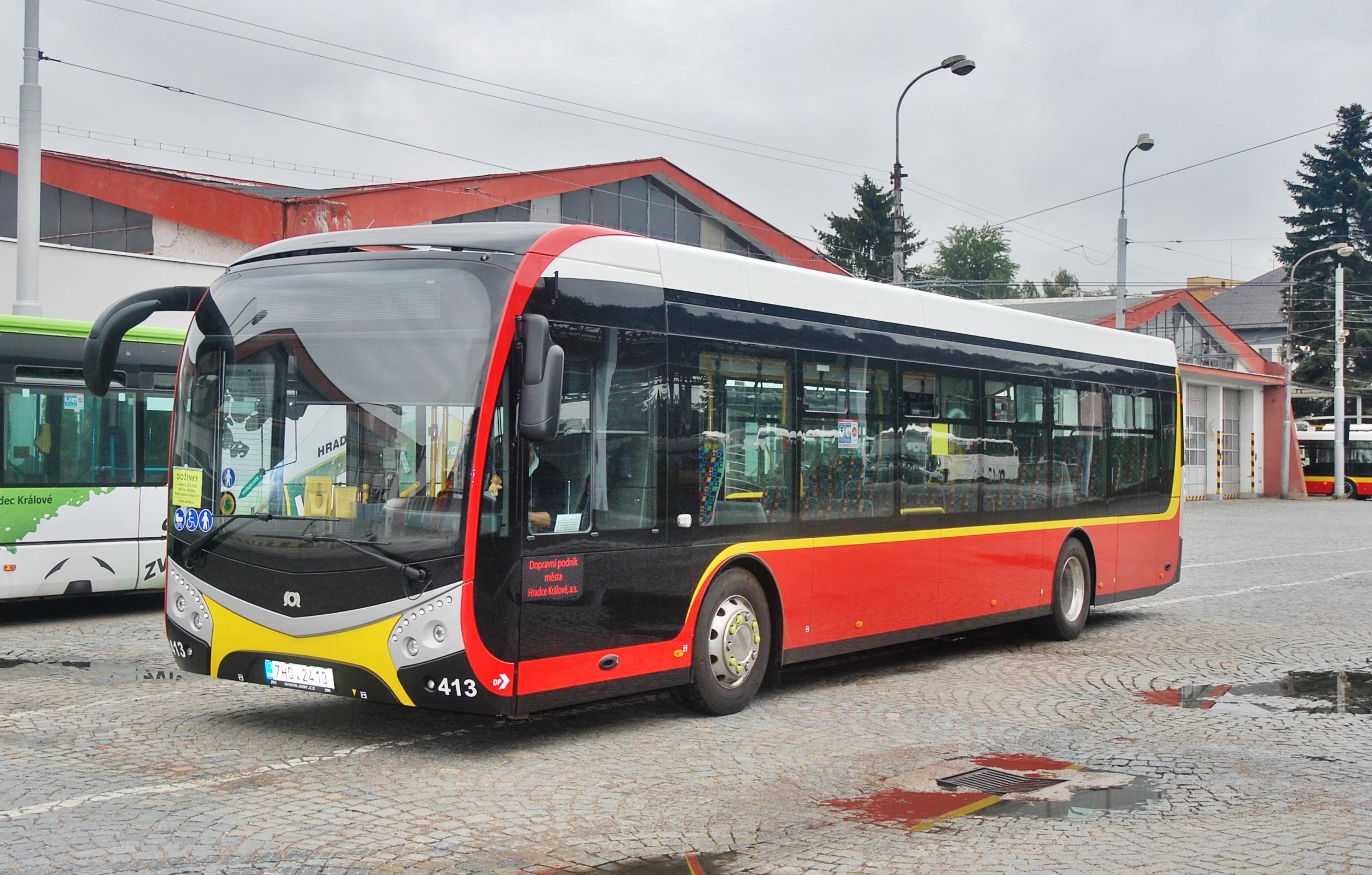 Elektrobus SOR v Dopravným podniku mesta Hradca Králové (foto: Zdeněk nesvrbí BusPress)