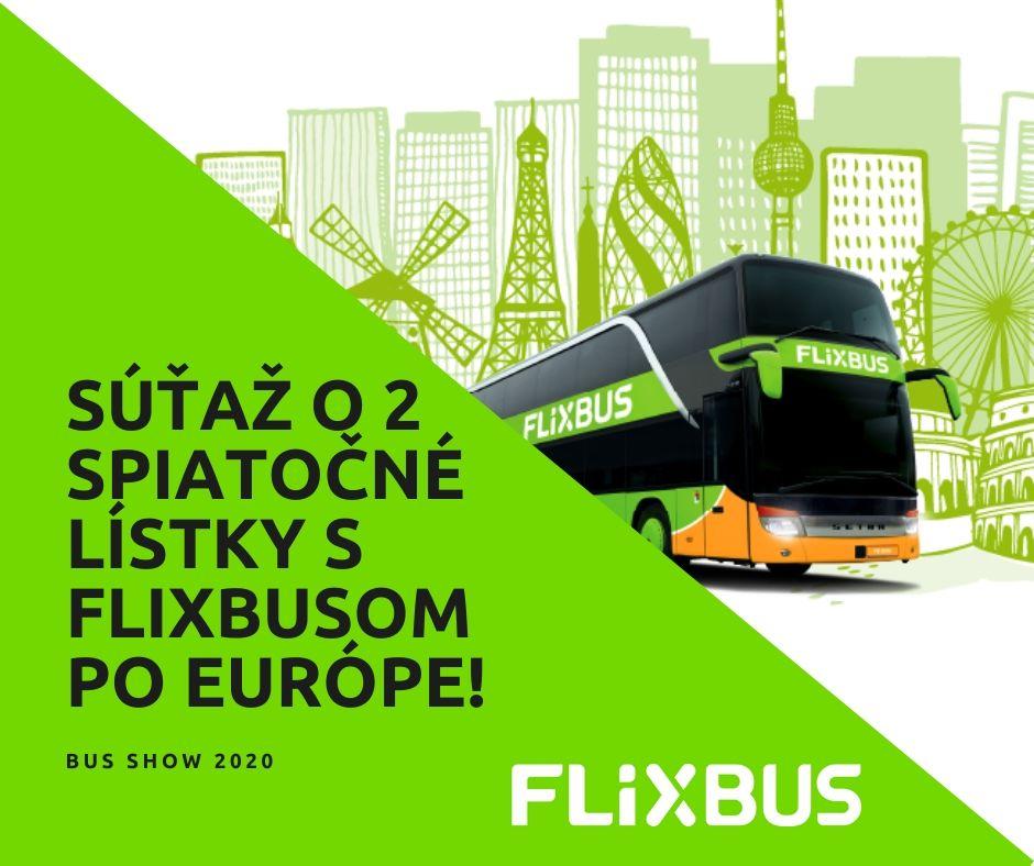 Súťaž o 2 lístky zadarmo po Európe s dopravcom FlixBus!